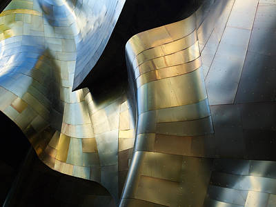 Abstract Architecture Photograph - Organic Metal #3 by David Reams