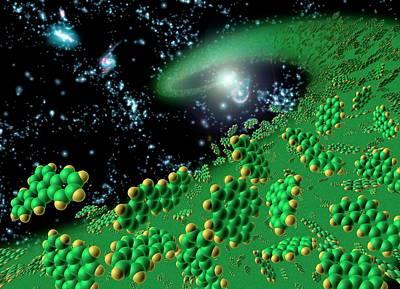Organic Molecules In Early Universe Art Print by Nasa/jpl-caltech/t. Pyle (ssc)
