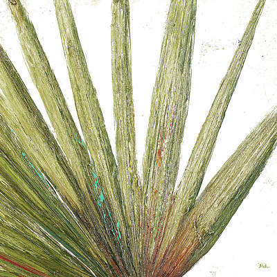 Palm Mixed Media - Organic On White II by Patricia Pinto