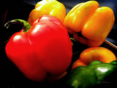 Bushel Photograph - Organic Peppers by Julie Palencia