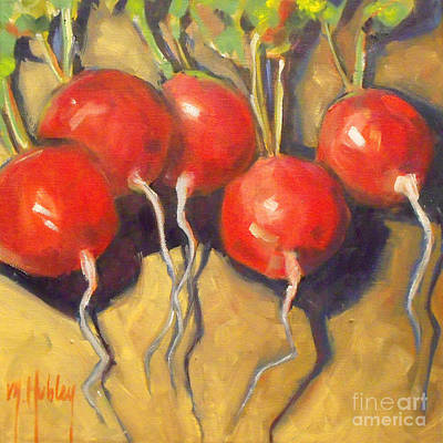 Organic Radishes Still Life Art Print