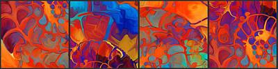 Painting - Organic Segments by Dorinda K Skains