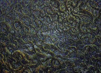 Organisms Painting - Organic Space 4 by De Es Schwertberger