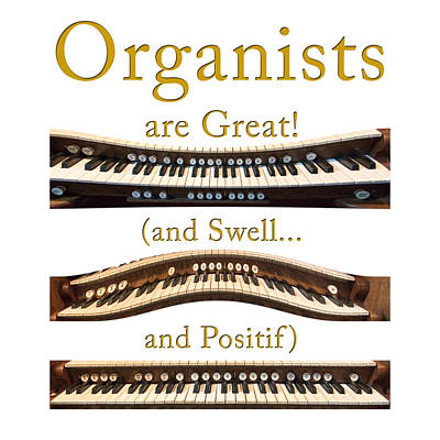 Photograph - Organists Are Great 2 by Jenny Setchell