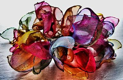 Stock Images Photograph - Organza Petals by Marianna Mills
