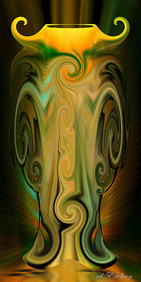 Digital Art - Orient - The Jar by rd Erickson