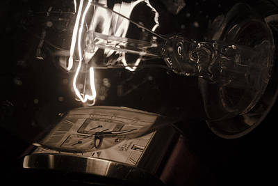 Photograph - Orient Watch And Light Bulb Close-up by Vlad Baciu