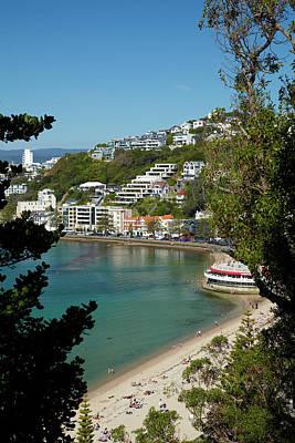 Tara Photograph - Oriental Bay, Wellington, North Island by David Wall