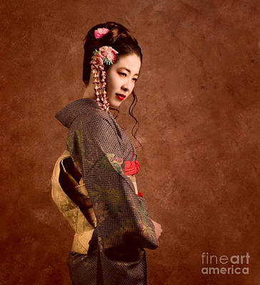 Oriental Beauty Art Print by Julian Cook