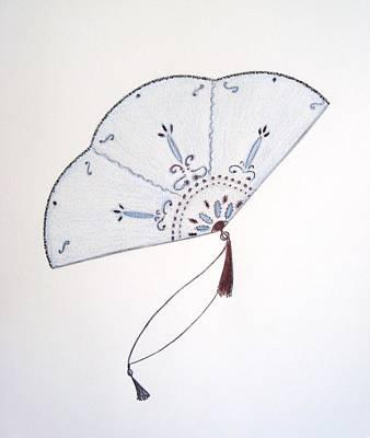 Drawing - Oriental Fan by Christine Corretti