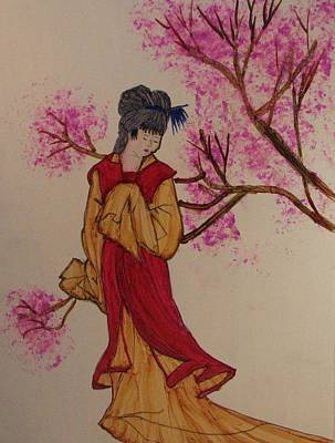 Linda Brown Painting - Oriental Garden by Linda Brown