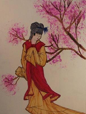 Oriental Garden Art Print by Linda Brown