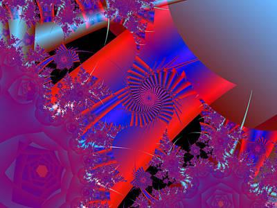 Digital Art - Oriental In Red by Ann Peck