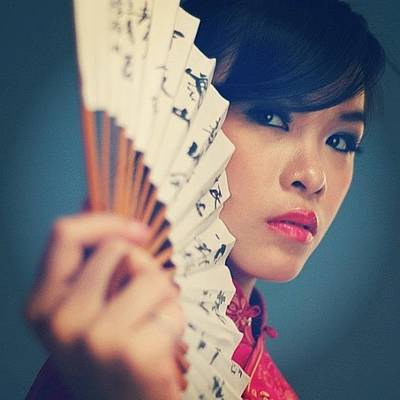 Model Wall Art - Photograph - Oriental #model #girl #oriental by Dani Daniar