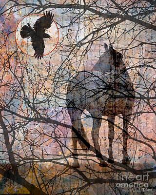 Judy Wood Digital Art - Oriental Moon by Judy Wood