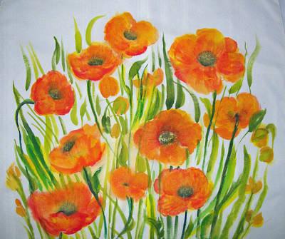 Painting - Oriental Poppy Garden by Shan Ungar
