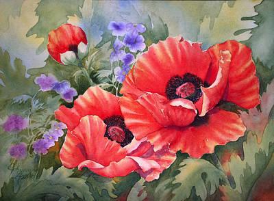 Oriental Poppy Art Print by Johanna Axelrod