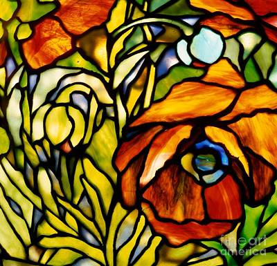 Tiffany Studios Glass Art - Oriental Poppy by Tiffany Studios