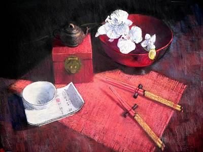Oriental Still Life Art Print by Jackie Simmonds