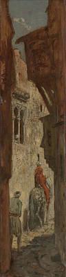 Marius Drawing - Oriental Street, Marius Bauer by Litz Collection