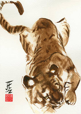 Oriental Tiger Art Print by Sandy Linden