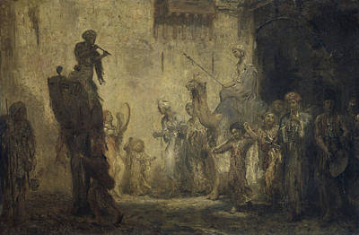 Marius Drawing - Oriental Wedding, Marius Bauer by Litz Collection