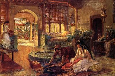 Artistic Painting - Orientalist Interior  by Celestial Images