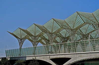 Photograph - Oriente Railroad Station In Lisbon by Kirsten Giving