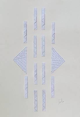 Minimalism Mixed Media - Origami 1 by Sumit Mehndiratta