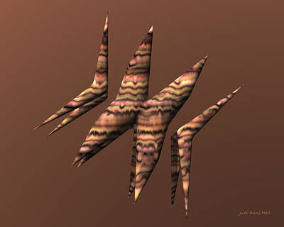 Digital Art - Origami Boomerangs by Judi Suni Hall