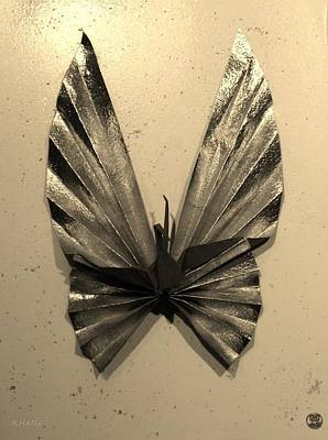 Photograph - Origami Butterfly In Sepia by Rob Hans