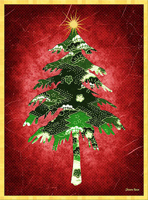 Digital Art - Origami Christmas Tree by Shawna Rowe