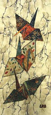 Origami Cranes Art Print by Lynda K Boardman