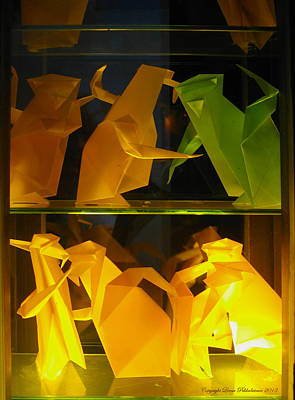 Origami Art Print by Leena Pekkalainen