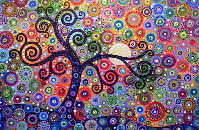 Painting - Original Abstract Tree Landscape Painting ... The Coming Day by Amy Giacomelli