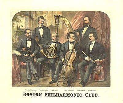 Original Boston Philharmonic Club 1875 Art Print by Padre Art