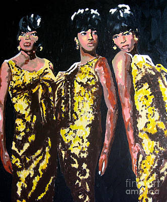 Original Divas The Supremes Art Print
