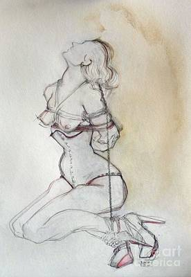 Mixed Media - Original Drawing For Rhiannon Bound by Carolyn Weltman