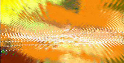 Painting - Original Fine Art Digital Abstract Galaxie Orange by G Linsenmayer