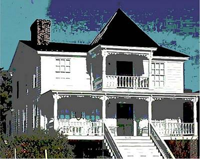Painting - Original Fine Art Digital White House North Carolina by G Linsenmayer