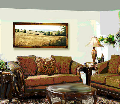 Painting - Original Fine Art Home Decor Landscapes by G Linsenmayer