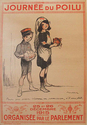 Original French War Poster Journee Du Poilu Original