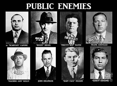Original Gangsters - Public Enemies Art Print by Paul Ward