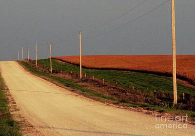 Photograph - Original Iowa Farm Road by David Bearden