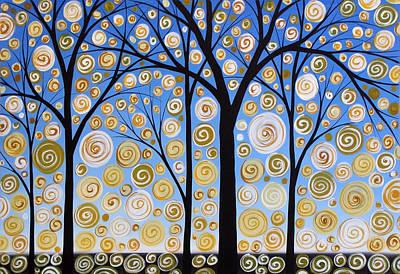 Original Landscape Tree Art Painting .. Sky Magic Art Print by Amy Giacomelli