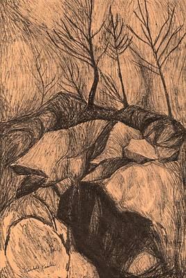 Drawing - Original Looking Up by Kendall Kessler