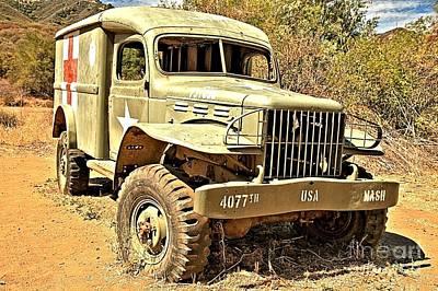 Photograph - Original Mash Ambulance by Adam Jewell