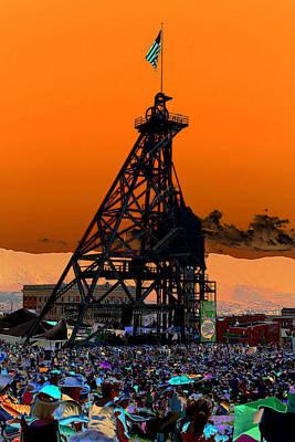 Butte Montana Photograph - Original Mine Yard Montana Folk Festival 2013 by Kevin Bone