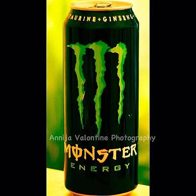 Drink Wall Art - Photograph - Original Monster Energy by Annija Valontine