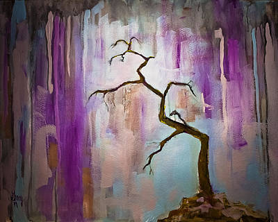 Painting - Original Painting Expressionist Contemporary Tree Art by Gray  Artus